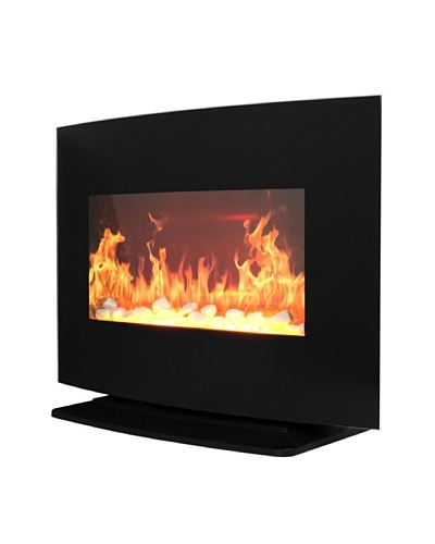 PROlectrix Windsor Wall/Free Standing Electric Fireplace, Black