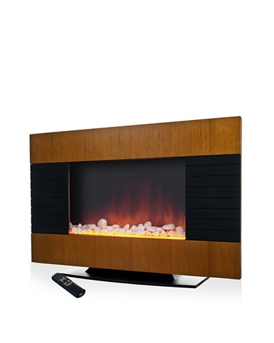 Northwest Merlin Electric Heater/Fireplace, Black & Oak