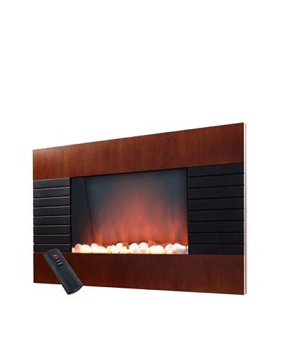 Warm House Mahogany-Effect Trim 1500-Watt Fireplace Heater