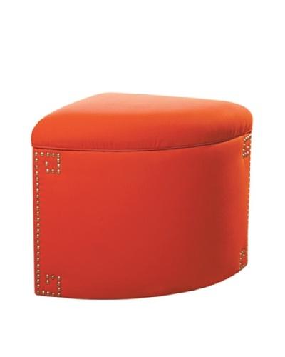 Sandy Wilson Ikat Corner Storage Ottoman, Orange