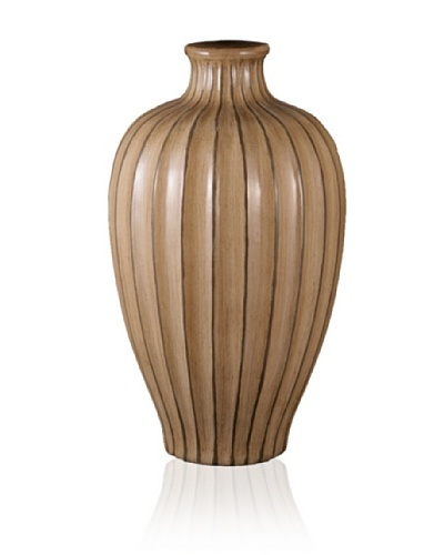 State Street Lighting Carved Accent Vase, Toast