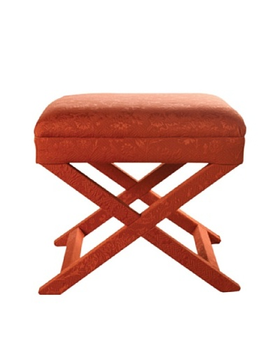 Sandy Wilson Bella Ottoman, Orange Rust