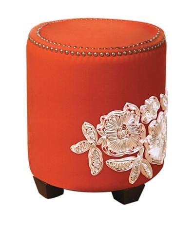 Sandy Wilson Ikat Ottoman, Orange