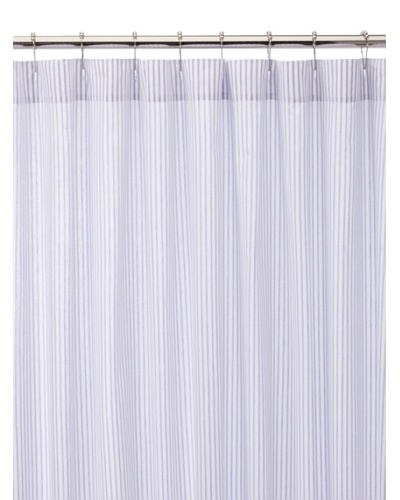 Traditions Ticking Shower Curtain, Lilac