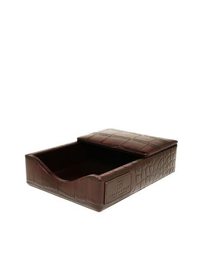 Trafalgar Crocodile-Embossed Desk Pad Set