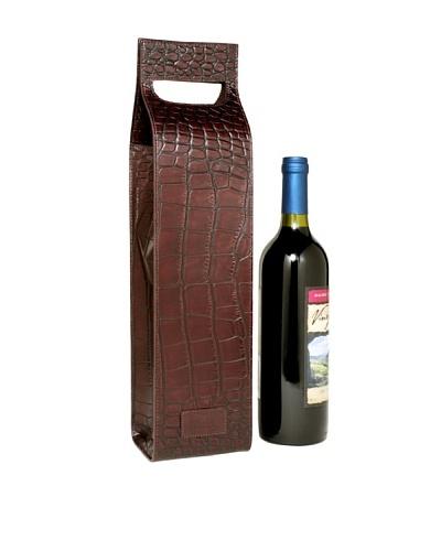 Trafalgar Crocodile-Embossed Wine Carrier