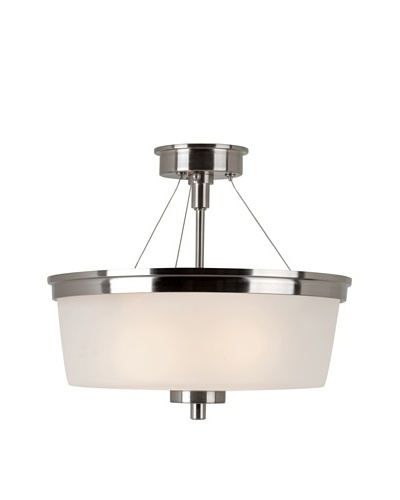 Trans Globe Lighting Urban Swag Semi Flush-Mount Fixture, Brushed Nickel