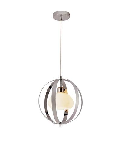 Trans Globe Lighting Harlequin Ball Pendant Light, Polished Chrome