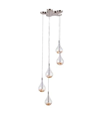 Trans Globe Lighting 5-Light Beaded Drop Mini Pendant, Polished ChromeAs You See