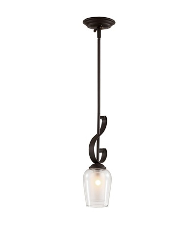 Trans Globe Lighting Eclectic Tempo Drop Pendant, Rubbed Oil Bronze