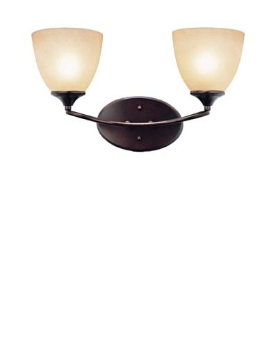 Trans Globe Lighting Pullman Double Sconce, Rubbed Oil Bronze