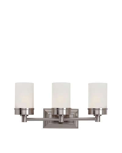 Trans Globe Lighting Urban Swag 3-Light Wall Bar, Brushed Nickel