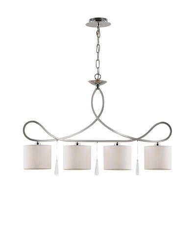Trans Globe Lighting Infinidad 4-Light Island Pendant Light, Polished Chrome