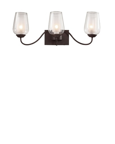 Trans Globe Lighting Eclectic Tempo Triple Sconce, Rubbed Oil Bronze