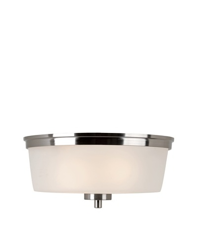 Trans Globe Lighting Urban Swag Flush-Mount Fixture, Brushed Nickel