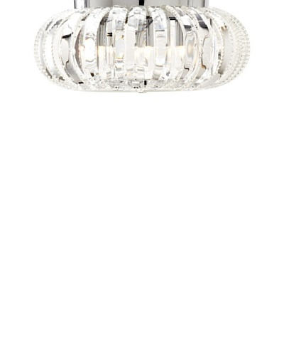Transglobe Lighting 4-Light Braided Crystal Flush Mount