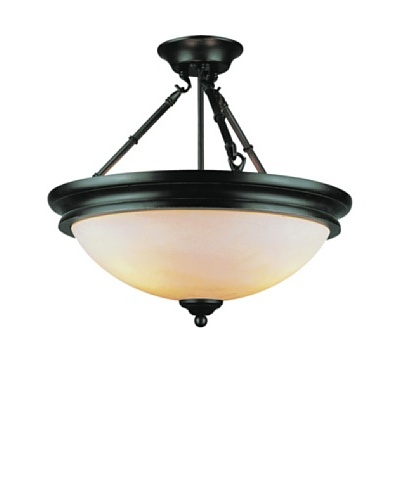 Trans Globe Lighting 3 Light Semi-Flush-Mount