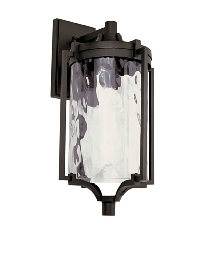 Trans Globe Lighting Coastal Sea Wall Lantern, Black, 21