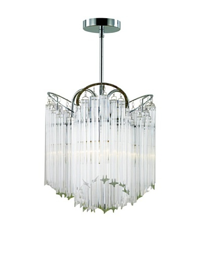Transglobe Lighting 3-Light Tapered Veil Chandelier
