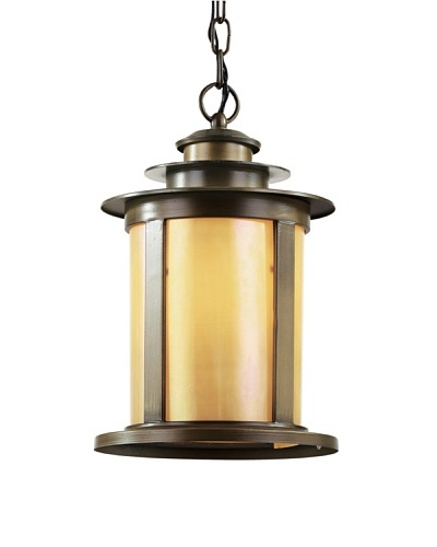Trans Globe Lighting Bronzed Honey Pendant Light, Antique Bronze, 17