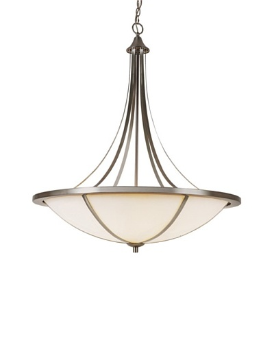 Trans Globe Lighting Cross Trim Flush-Mount Fixture, Brushed Nickel