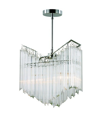 Transglobe Lighting 2-Light Tapered Veil Chandelier