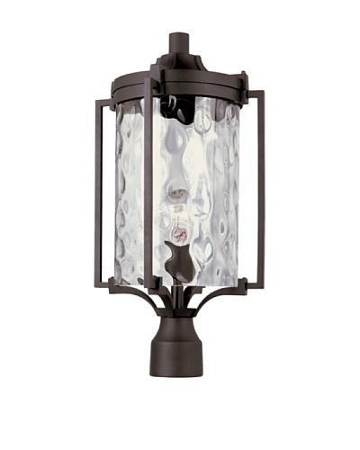 Trans Globe Lighting Coastal Sea Post Lantern, Black, 20
