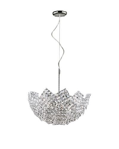 Trans Globe Lighting Fragmented Crystal Basket Pendant, Polished Chrome