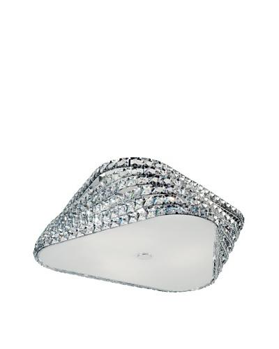 Trans Globe Lighting Crystal Gem Stone Flush-Mount Fixture, Polished Chrome