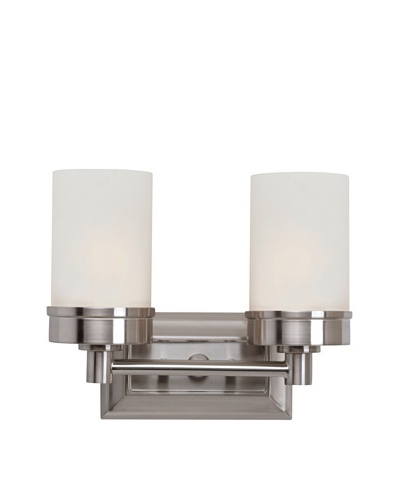 Trans Globe Lighting Urban Swag Double Sconce, Brushed Nickel