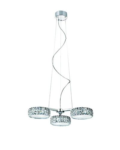 Trans Globe Lighting Crystal LED Propeller Pendant, Polished Chrome