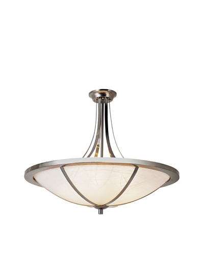 Trans Globe Lighting Cross Trim Semi Flush-Mount Fixture, Brushed Nickel