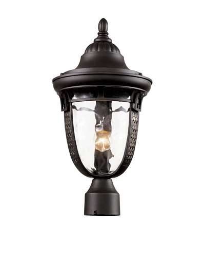 Trans Globe Lighting Braided Roman Post Light, Oil-Rubbed Bronze, 18