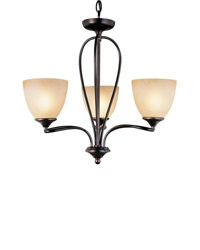 Trans Globe Lighting Pullman 3-Light Chandelier, Rubbed Oil Bronze
