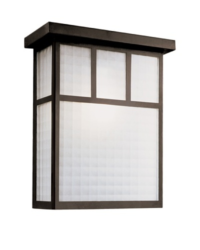 "Trans Globe Lighting Garden Box Patio Light, Black, 14"""