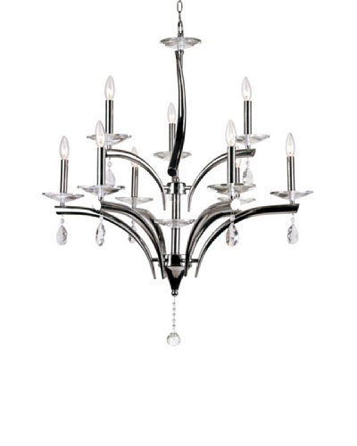 Transglobe Lighting 9-Light Polished Chrome Contemporary Chandelier