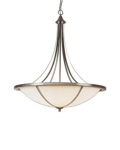Trans Globe Lighting Cross Trim Pendant Light, Brushed Nickel