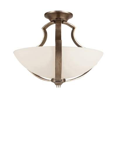 Trans Globe Lighting Silver Leaf 17 Semi Flush-Mount, Antique Silver LeafAs You See