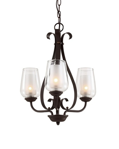 Trans Globe Lighting Eclectic Tempo 3-Light Chandelier, Rubbed Oil Bronze