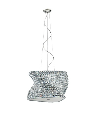 Trans Globe Lighting Crystal Gem Stone Pendant, Polished Chrome