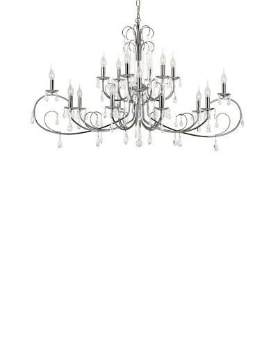 Trans Globe Lighting Chic Nouveau 18-Light Chandelier, Polished ChromeAs You See