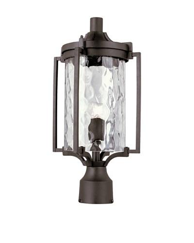 Trans Globe Lighting Coastal Sea Post Lantern, Black, 18
