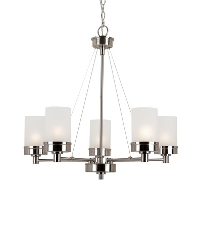 Trans Globe Lighting Urban Swag 5-Light Chandelier, Brushed Nickel