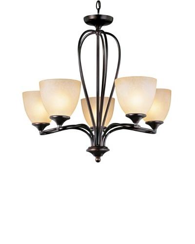 Trans Globe Lighting Pullman 5-Light Chandelier, Rubbed Oil Bronze