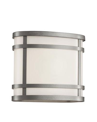 Trans Globe Lighting Cityscape Oval Patio Light, Silver, 8