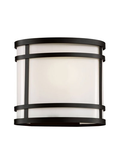 Trans Globe Lighting Cityscape Oval Patio Light, Black, 8