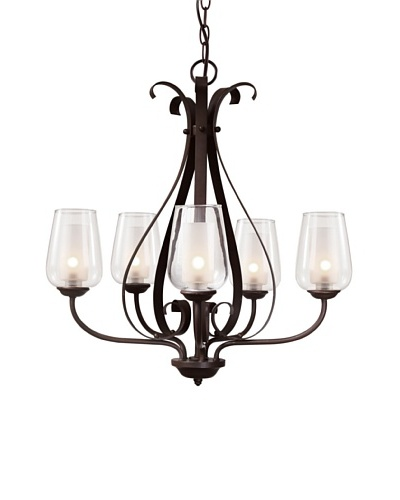 Trans Globe Lighting Eclectic Tempo 5-Light Chandelier, Rubbed Oil BronzeAs You See