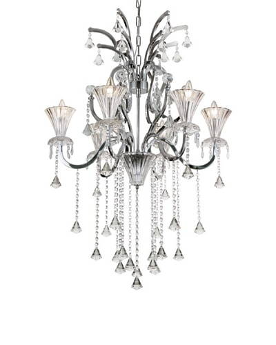 Trans Globe Lighting Trumpet Vine Chandelier, Polished ChromeAs You See