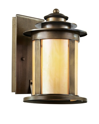 Trans Globe Lighting Bronzed Honey Lantern, Antique Bronze, 13