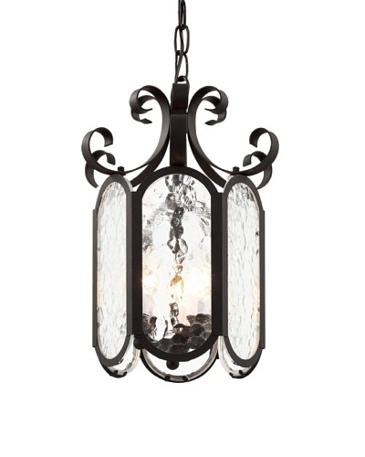 Trans Globe Lighting Iced Glass 10 Foyer Pendant, Black